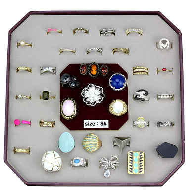VK-050-SIZE8 - Assorted Brass Ring with Assorted  in Assorted