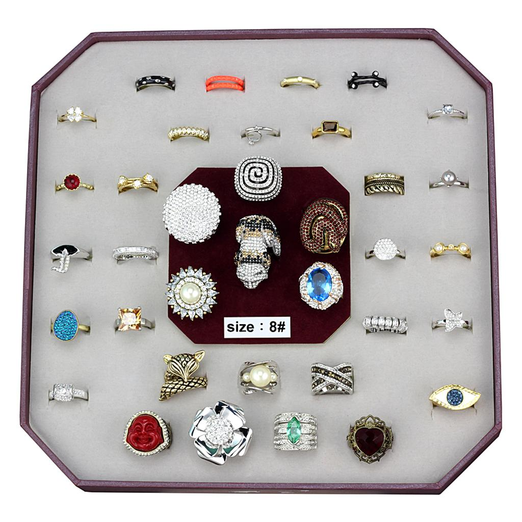 VK-053-SIZE8 - Assorted Brass Ring with Assorted  in Assorted