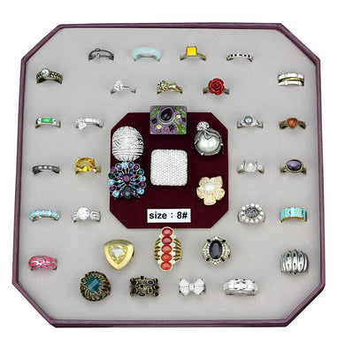 VK-054-SIZE8 - Assorted Brass Ring with Assorted  in Assorted