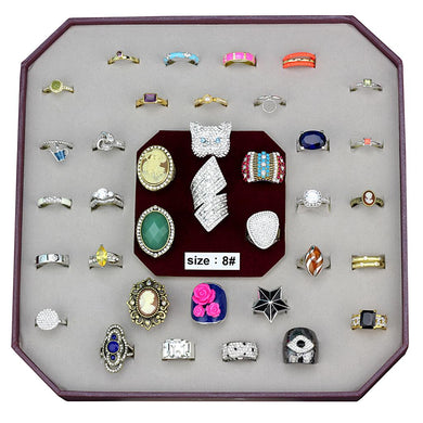VK-055-SIZE8 - Assorted Brass Ring with Assorted  in Assorted