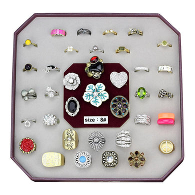 VK-056-SIZE8 - Assorted Brass Ring with Assorted  in Assorted