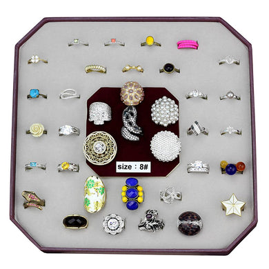VK-057-SIZE8 - Assorted Brass Ring with Assorted  in Assorted