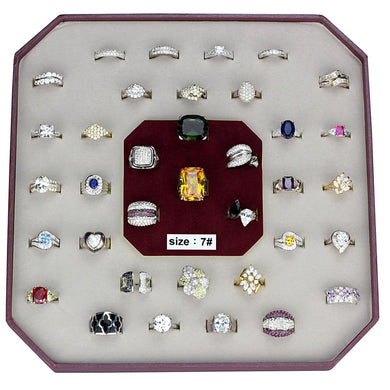 VK925-001-SIZE7 - Assorted 925 Sterling Silver Ring with Assorted  in Assorted