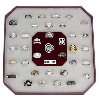 VK925-002-SIZE8 - Assorted 925 Sterling Silver Ring with Assorted  in Assorted