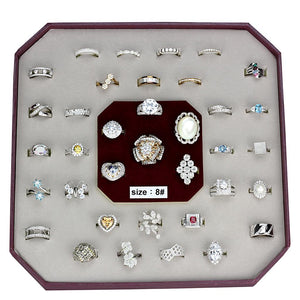 VK925-003-SIZE8 - Assorted 925 Sterling Silver Ring with Assorted  in Assorted
