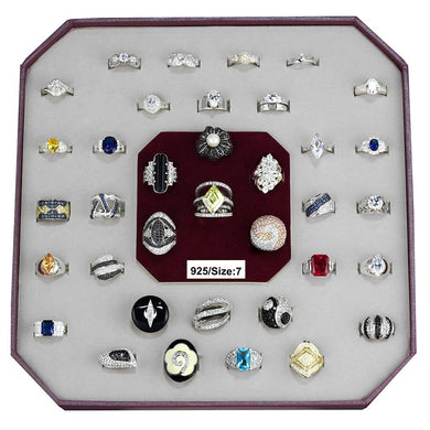 VK925-004-SIZE7 - Assorted 925 Sterling Silver Ring with Assorted  in Assorted