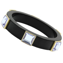 Load image into Gallery viewer, VL031 - IP Gold(Ion Plating) Brass Bangle with Synthetic Acrylic in Light Amethyst