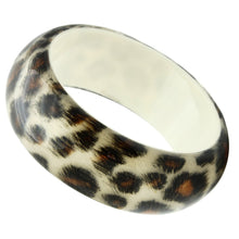 Load image into Gallery viewer, VL033 -  Resin Bangle with Synthetic Synthetic Stone in Animal pattern