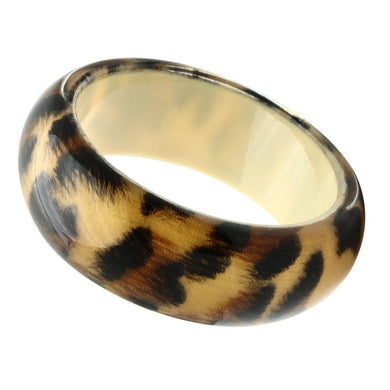 VL034 -  Resin Bangle with Synthetic Synthetic Stone in Animal pattern