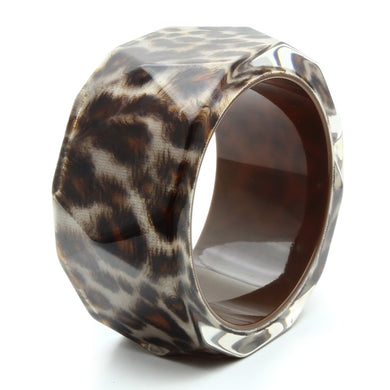 VL035 -  Resin Bangle with Synthetic Synthetic Stone in Animal pattern