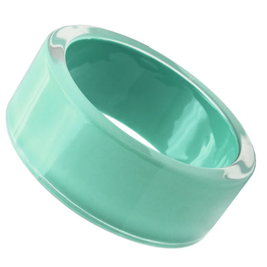 VL044 -  Resin Bangle with Synthetic Synthetic Stone in Emerald