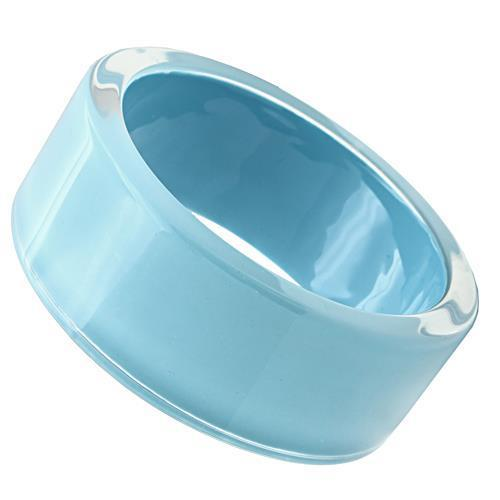 VL045 -  Resin Bangle with Synthetic Synthetic Stone in Sea Blue