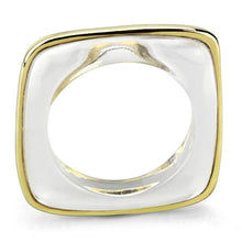 Load image into Gallery viewer, VL081 - IP Gold(Ion Plating) Brass Ring with Synthetic Synthetic Stone in Clear