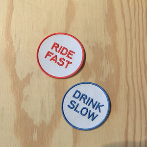 Patch - Ride fast, drink slow