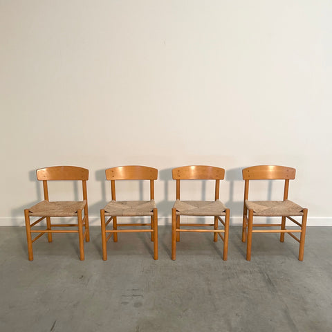Børge Mogensen dining chairs, model J39, Denmark 1960s