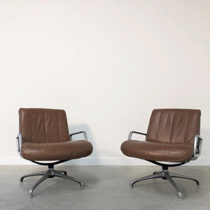 Set vintage lounge chairs by Saporiti, Italy 1970s