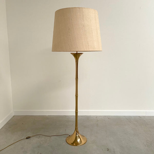 Vintage 60s bamboo floor lamp by Ingo Maurer, ML1F