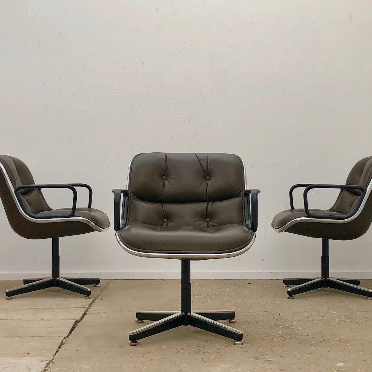 Executive office chairs by Charles Pollock for Knoll International