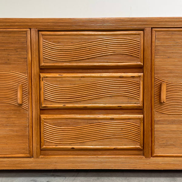 Vintage bamboo sideboard, 1970s