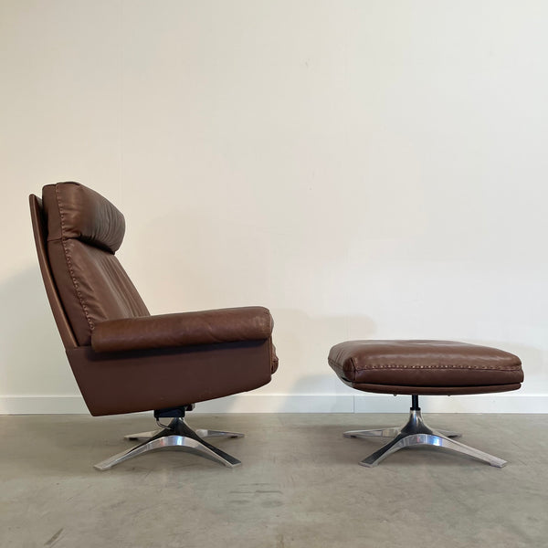 De Sede lounge chair with hocker, model DS-31