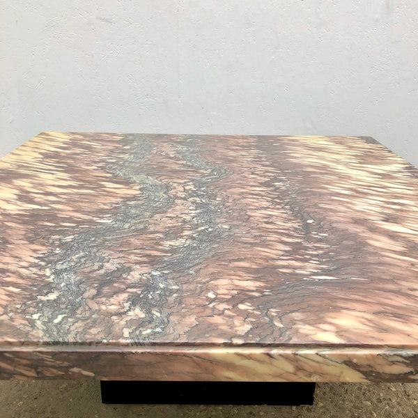 Vintage marble coffee table, 1980s