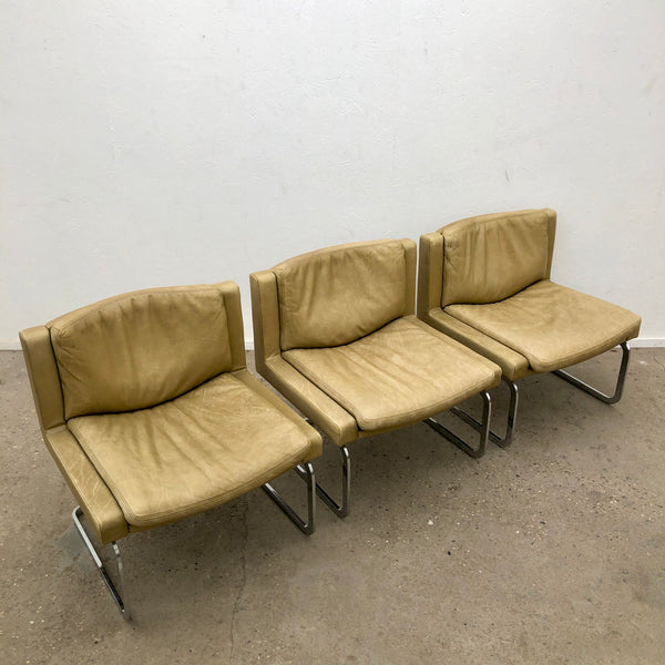 Vintage executive chairs by Robert Haussmann for De Sede