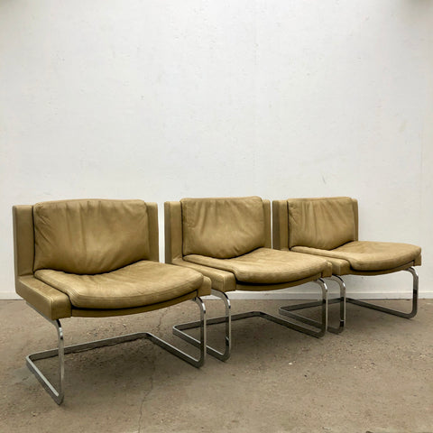 Vintage executive chairs by Robert Haussman for De Sede