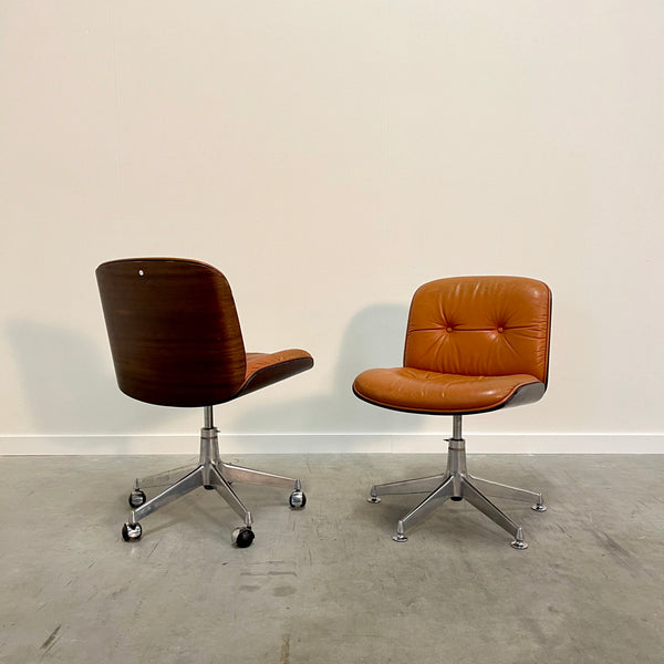 Set vintage office chairs by Ico & Luisa Parisi for MIM, 1960s