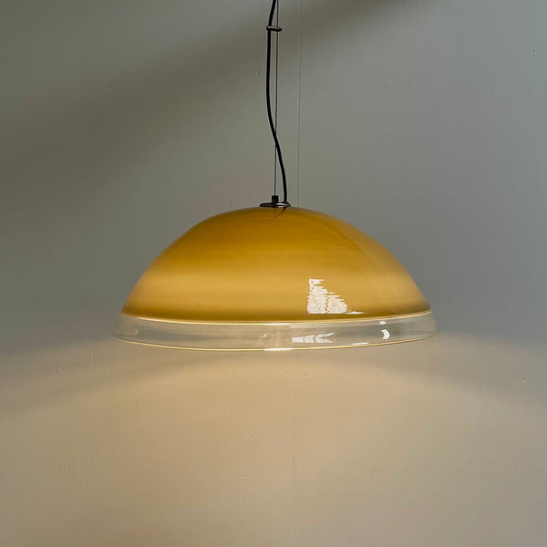 Large hand blown glass pendant by Guzzini, 1970s