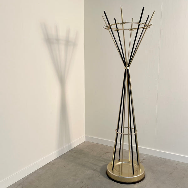 Vintage diabolo shaped coat stand, 1960s