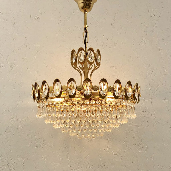 Vintage Palwa chandelier, 1970s, Germany
