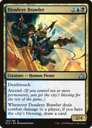 Deadeye Brawler [Rivals of Ixalan] | North Valley Games