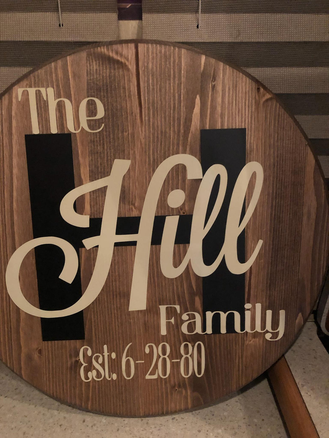 Customizable Round Home Signs 18""