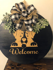 Customizable Round Home Signs 15""