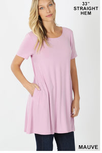 Mauve Short Sleeve Tunic