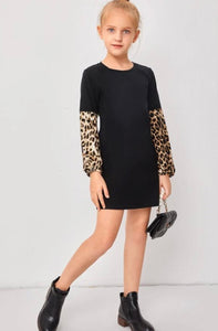 Leopard Sleeve Dress