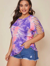 Load image into Gallery viewer, Tie Dye Ripped Sleeve Tee