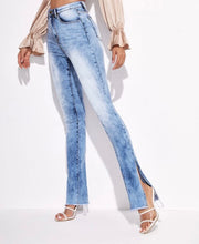 Load image into Gallery viewer, Slit Hem Skinny Jeans