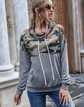 Load image into Gallery viewer, Camo & Grey Hoodie