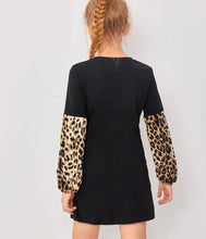 Load image into Gallery viewer, Leopard Sleeve Dress