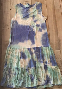 Tie Dye Dress with Ruffle