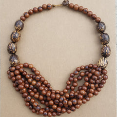Amazon Rainforest Necklaces - Acai and Tagua Seeds - Handmade in the Amazon.