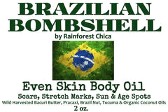 Brazilian Bombshell Even Skin Body Oil - Rainforest Chica  - 5