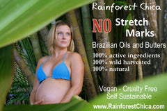NO Stretch Marks - Brazilian Butters and Oils - helps to prevent and diminish the appearance. - Rainforest Chica  - 2