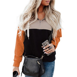 Zipper Up Sweatshirt