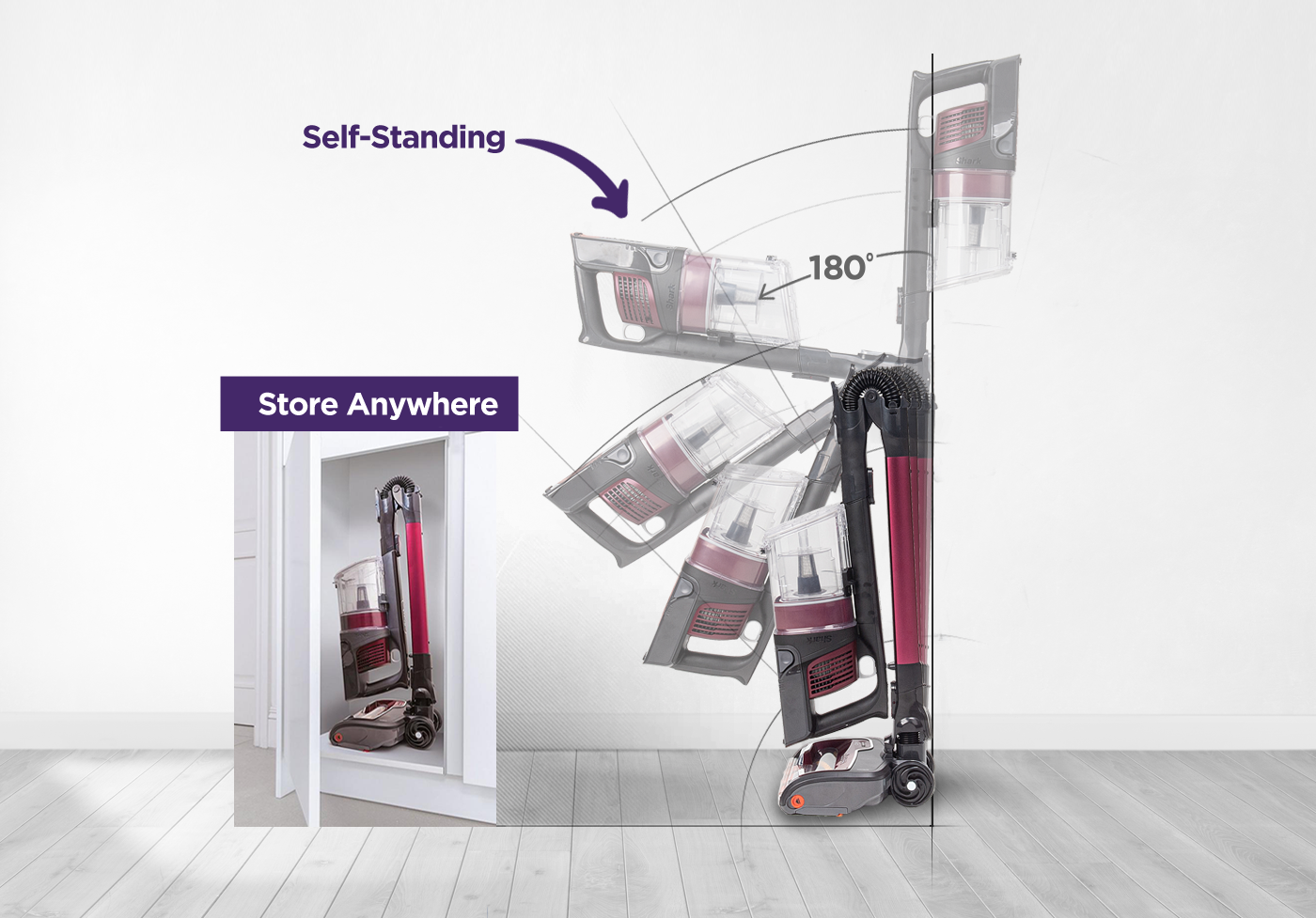 store anywhere - self-standing