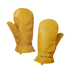 G35312 Leather Adjustable Pile Lined Mitt