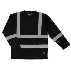 ST08 L/S Safety T-Shirt with Segmented Stripes