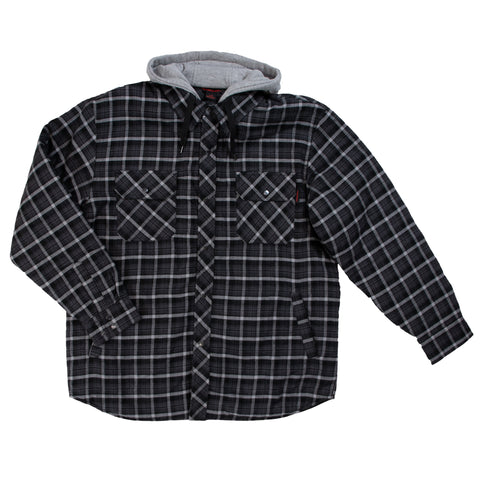 WS06 Fooler Front Quilt Lined Flannel Hooded Shirt