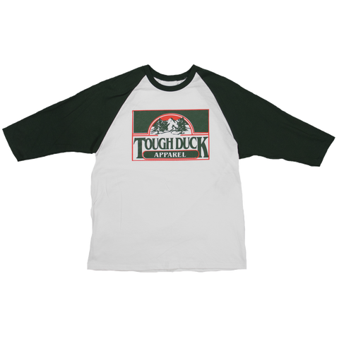 WT02 Forest Throwback Baseball T-Shirt